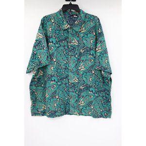 Vintage Patagonia men's XL hawaiian shirt green